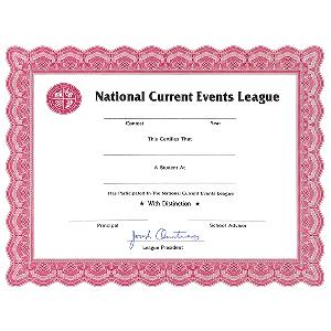 NCEL Certificate
